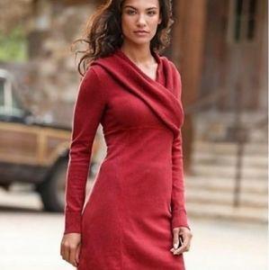 Athleta red sweater dress size large